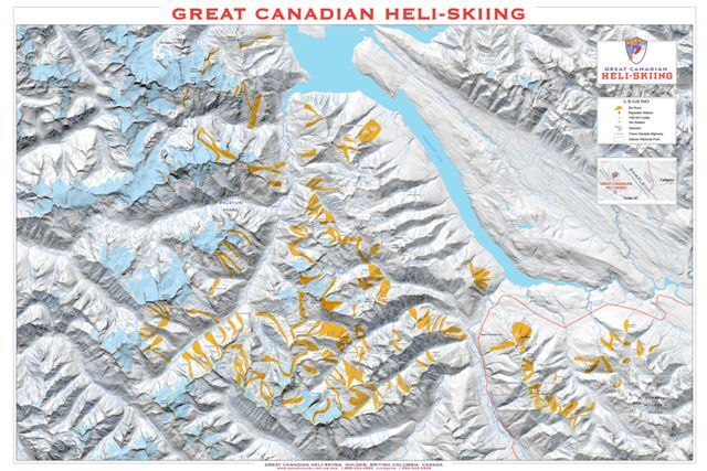 Great Canadian Heli-Skiing Piste / Trail Map