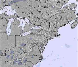 Appalachians and Great Lakes 雪の地図(3 日)