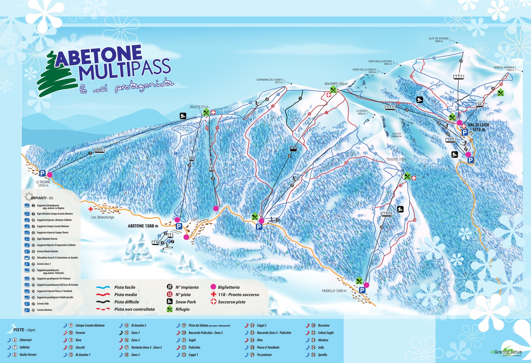 Abetone Piste / Trail Map