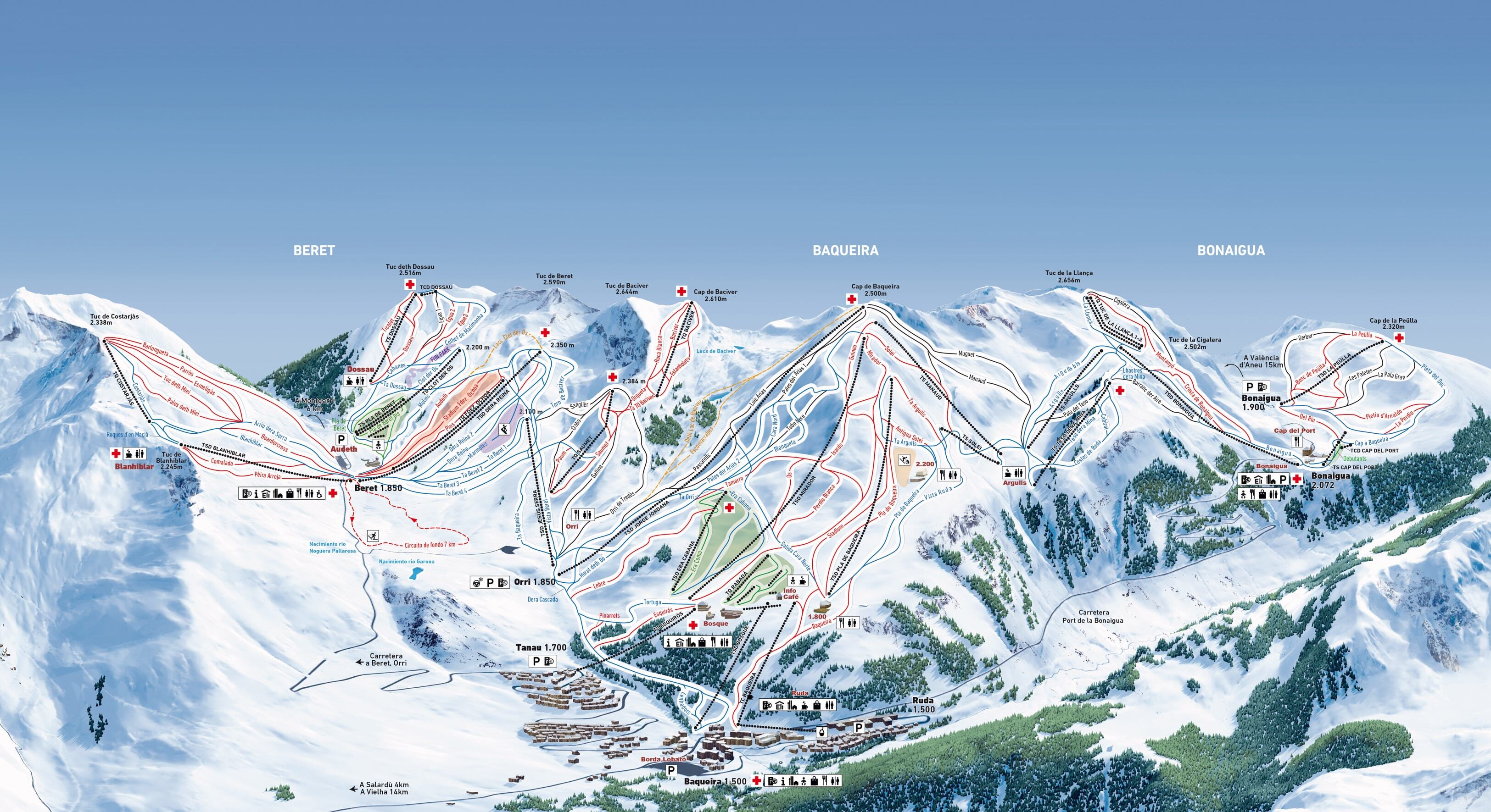 Baqueira/Beret Piste / Trail Map