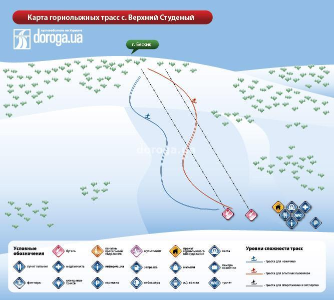Beskyd Piste / Trail Map