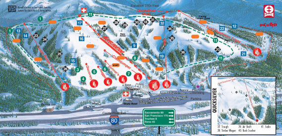 boreal mountainスキーリゾート ガイド ロケーションマップ及びboreal
