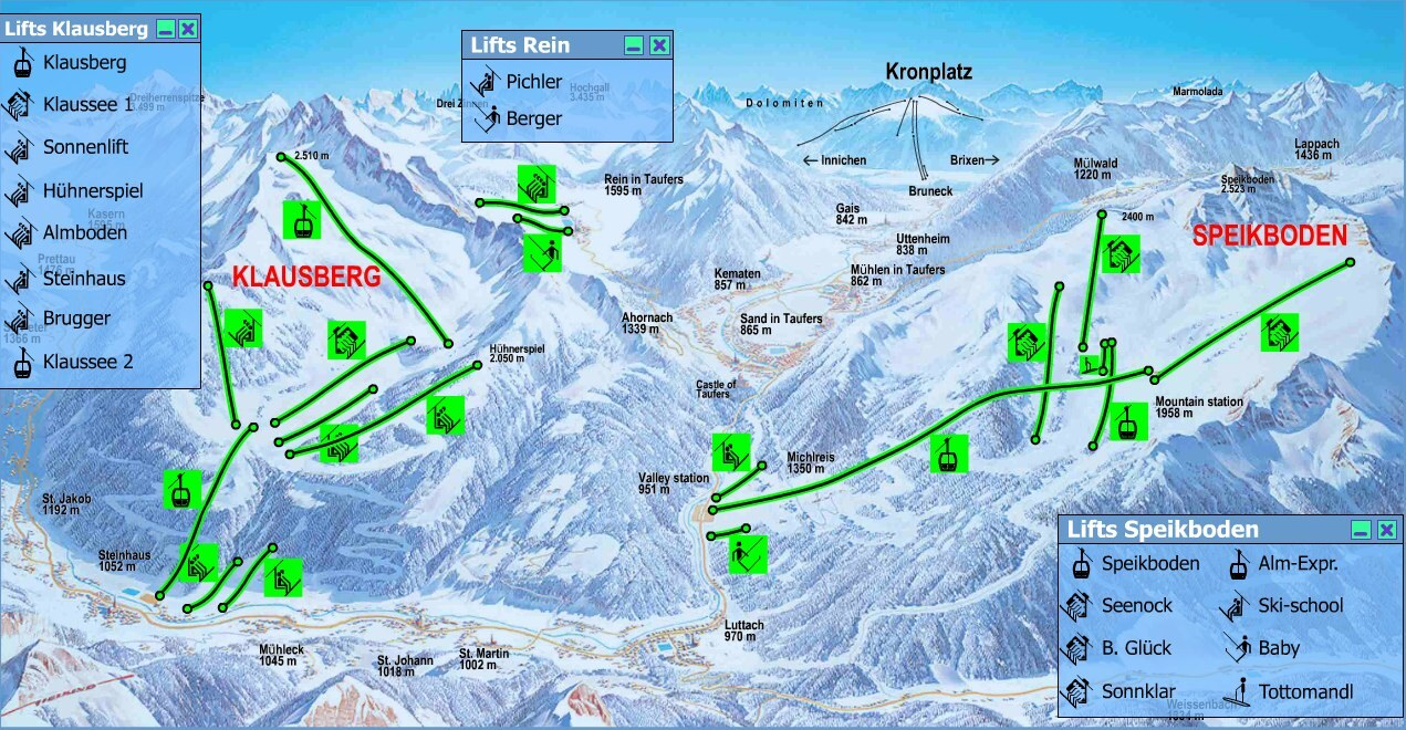 Klausberg Piste / Trail Map