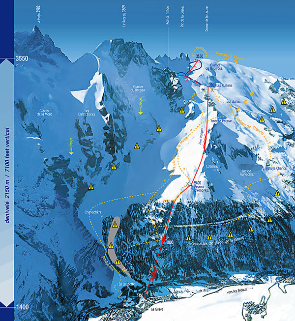 La Grave-La Meije Piste / Trail Map