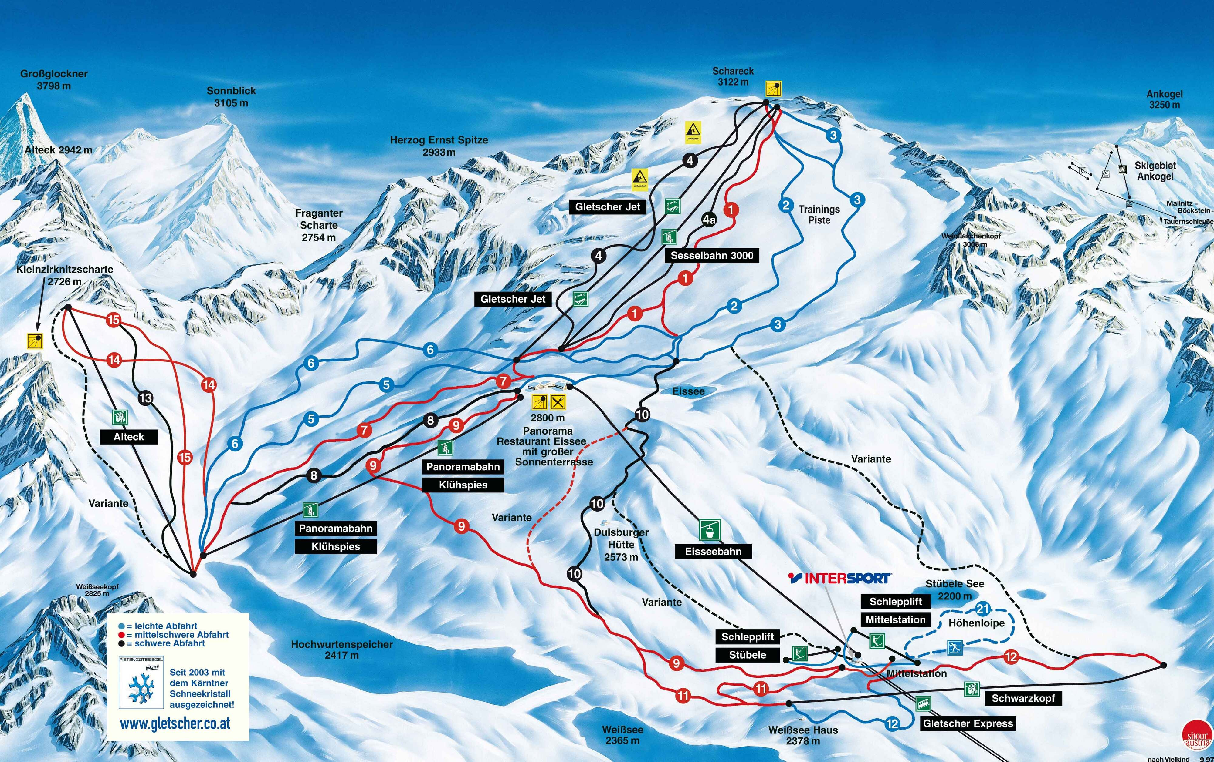 Mallnitz Piste / Trail Map