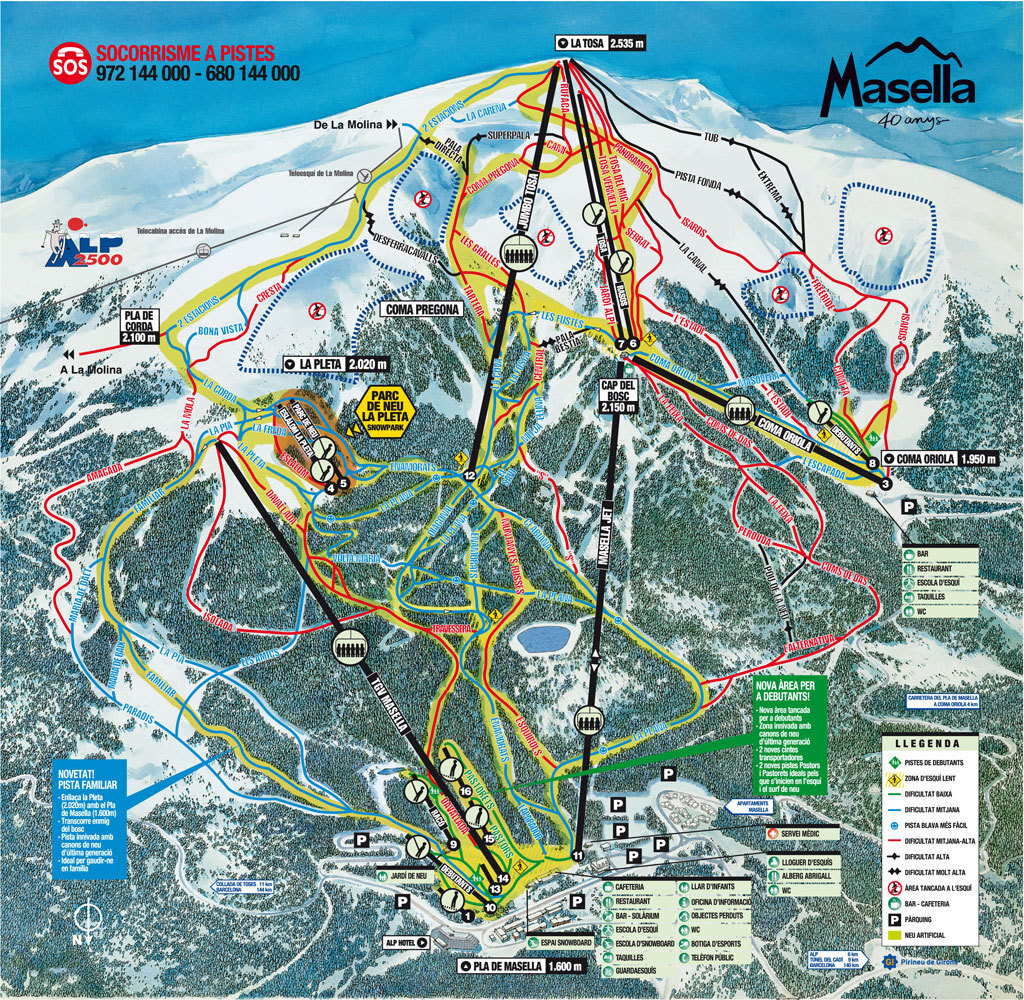 Masella Piste / Trail Map